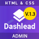 Dashlead –  Admin Panel HTML Template - ThemeForest Item for Sale