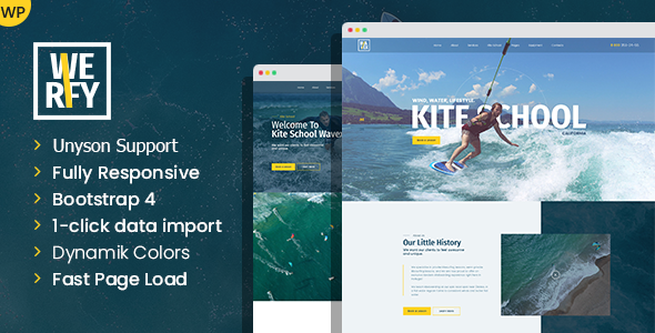 Werfy – Surfing & Water Sports WordPress theme Preview