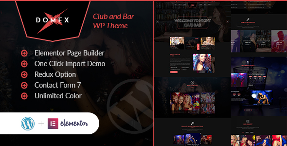 Domex - Night Club WordPress Theme