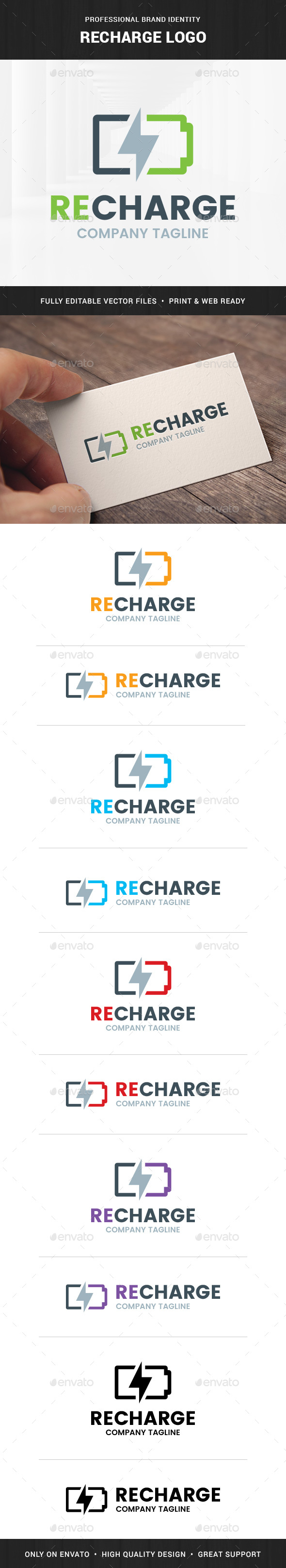 Recharge Logo Template