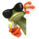 Fun Frog with a Cocktail - GraphicRiver Item for Sale