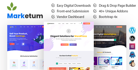 Marketum | Digital Product Marketplace WordPress Theme