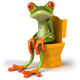 Fun frog and toilets - GraphicRiver Item for Sale