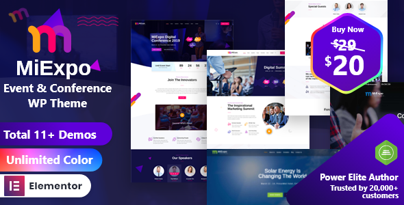 MiExpo | Event Conference Elementor WordPress Theme