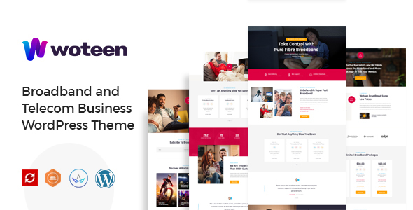 Woteen - Broadband and Telecom Business WordPress Theme