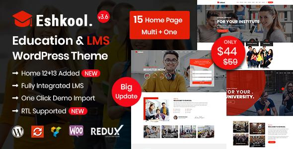 Eshkool - Education WordPress Theme