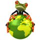 Fun frog with the planet - GraphicRiver Item for Sale