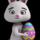 Easter Bunny Holding an Egg  (4-Pack) - VideoHive Item for Sale