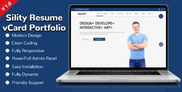 Sility Resume / CV / vCard / Portfolio CMS Nulled Free Download