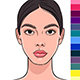 Color Type of Female Appearance Set - GraphicRiver Item for Sale