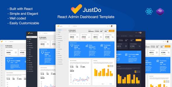 JustDo - React Responsive Admin Template