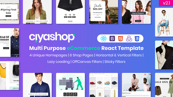 CiyaShop - Multi-Purpose eCommerce React Template