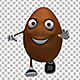 Chocolate Easter Egg 3d Character - Walk And Run Cycle (6-Pack) - VideoHive Item for Sale