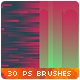 30 Horizontal Vertical Rounded Stripes Photoshop Brushes - GraphicRiver Item for Sale
