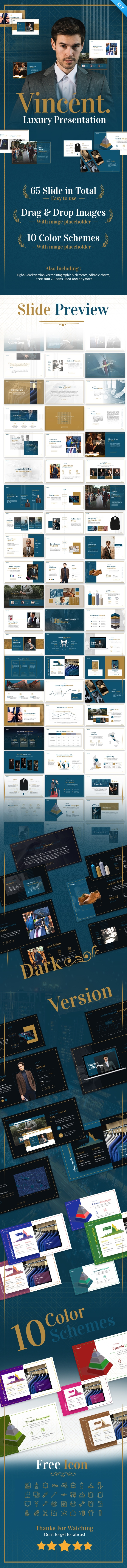 Vincent Luxury Presentation Keynote Template Fully Animated