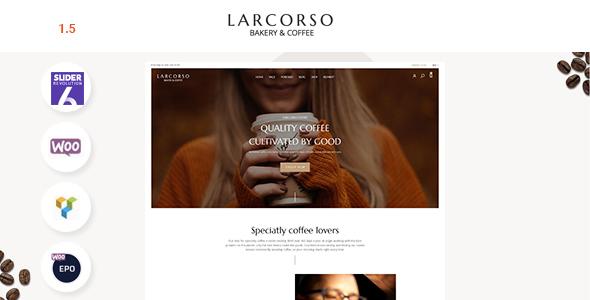 Larcorso - Coffee Shop WooCommerce Theme