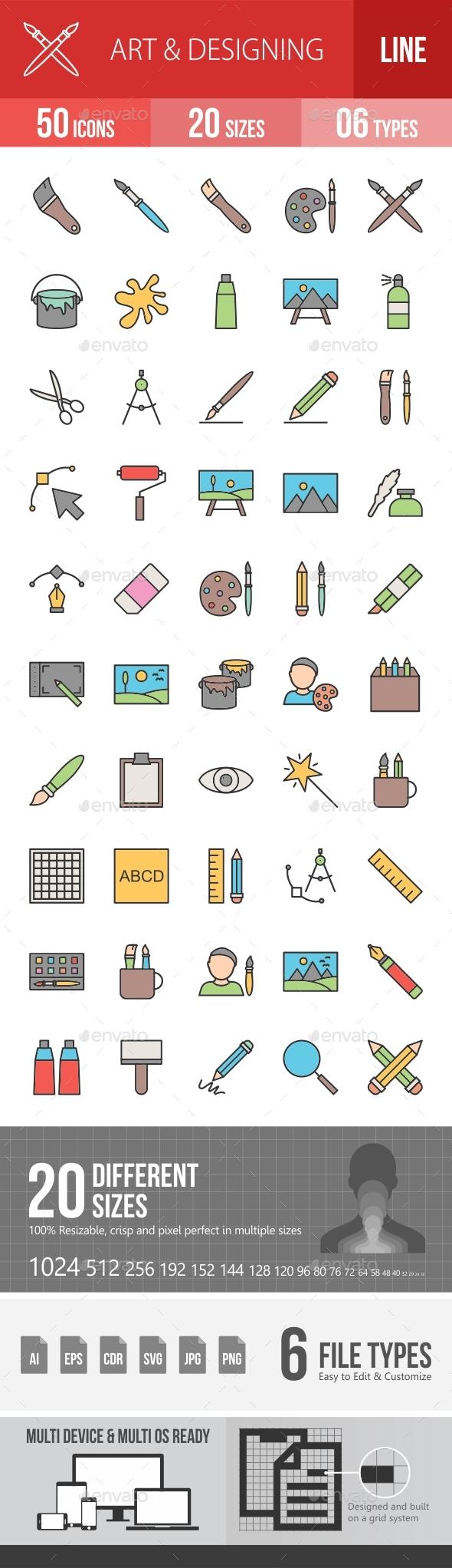 Art & Designing Filled Line Icons Season II