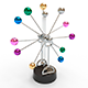 Newton pendulum creative rotating multi-colored eternal balls - 3DOcean Item for Sale
