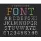 Embroidery Font Sew Letters - GraphicRiver Item for Sale