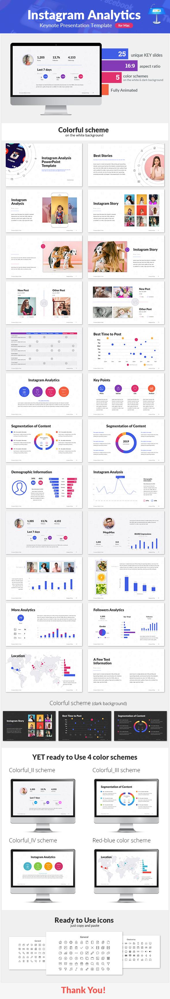 Instagram Analytics Keynote Presentation Template