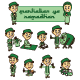 Muslim Kid Character Set - GraphicRiver Item for Sale