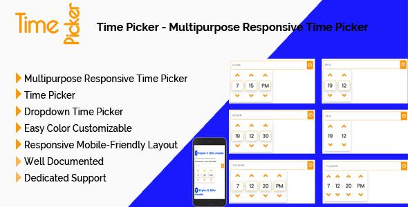 Time Picker - Multipurpose Responsive Time Picker