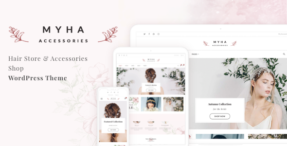 Myha - Accessories Store & Hair Shop WordPress theme