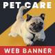 Pet Care Web Banner Set - GraphicRiver Item for Sale