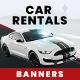 Rental Car Web Banner Set - GraphicRiver Item for Sale