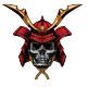 Red Samurai Warrior Skull - GraphicRiver Item for Sale