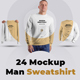 24 Mockup Men Sweatshirt - Man/3D/Objects ( Collection #3 ) - GraphicRiver Item for Sale
