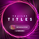 Particles Titles - Insomnia - VideoHive Item for Sale