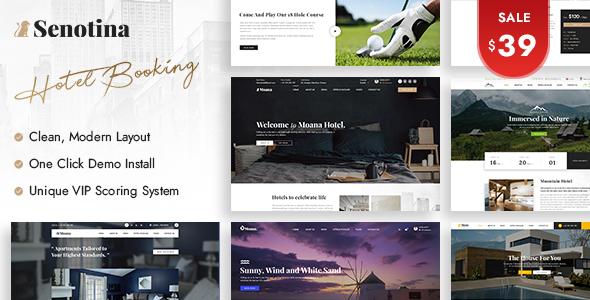 Senotina – Resort and Hotel WordPress Theme Preview