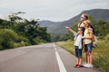 Happy children  walking on the road at the day time. - PhotoDune Item for Sale