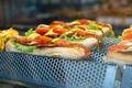 Sandwich on shelf in bar. Showcase light. - PhotoDune Item for Sale