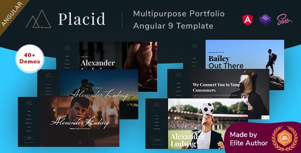 Placid - Angular 9 Multipurpose Portfolio
