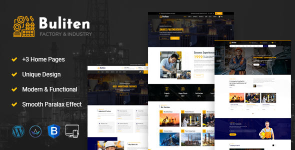 Buliten-Factory & Industry WordPress Theme