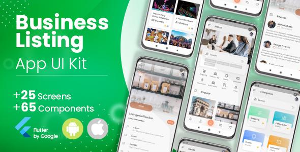 Business Directory, Listing Flutter App UI Kit Download