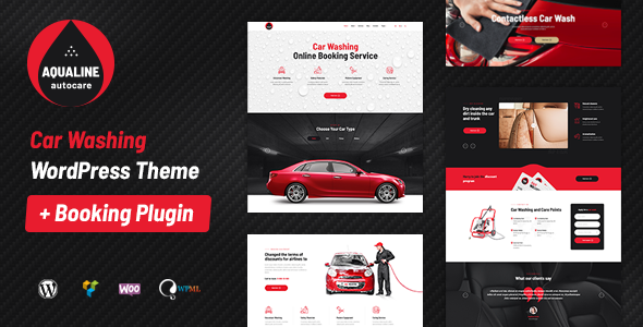 Aqualine - Car Washing Service with Booking System WordPress Theme