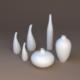 Porcelain vases - 3DOcean Item for Sale