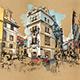 Quick Watercolor Urban Sketcher Photoshop Action - GraphicRiver Item for Sale