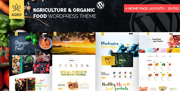 Agro - Organic Food  & Agriculture WordPress Theme