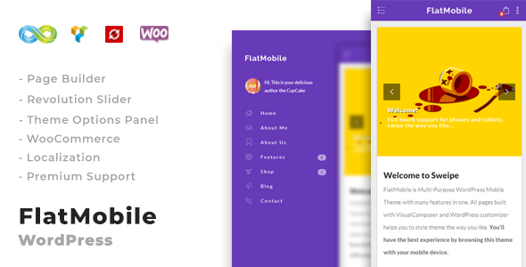 FlatMobile - Responsive WordPress Mobile Theme
