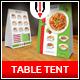 Italian Restaurant Table Tent Menu - GraphicRiver Item for Sale
