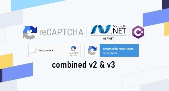 Combined Google reCAPTCHA v2 & v3 in ASP.NET