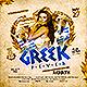 Greek Fever Party Flyer - GraphicRiver Item for Sale