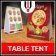 Pizza Restaurant Table Tent Menu - GraphicRiver Item for Sale