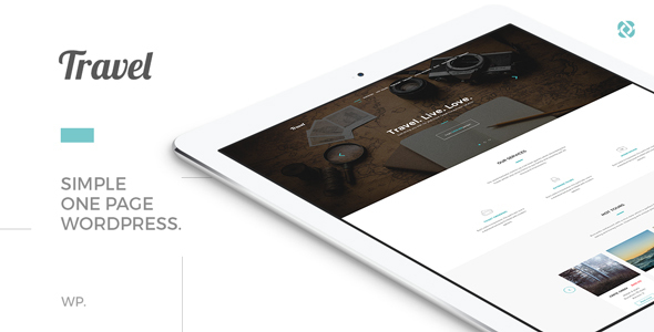 Travel - One Page Modern Tour Agency Theme 4