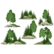 Landscapes with Trees and Rocks - GraphicRiver Item for Sale