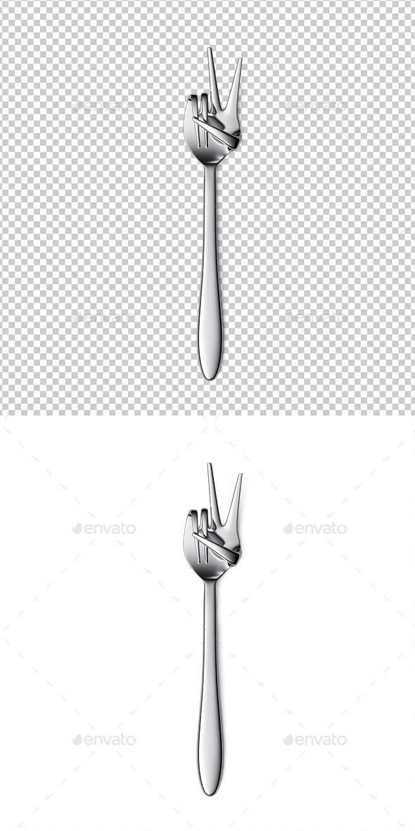 Fork hand finger gesture